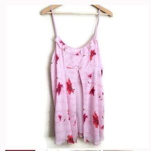 NWOT floral chemise. Faux silk. Adjustable straps